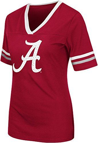 Colosseum NCAA Women's Alabama Crimson Tide Jeweled Logo T-Shirt