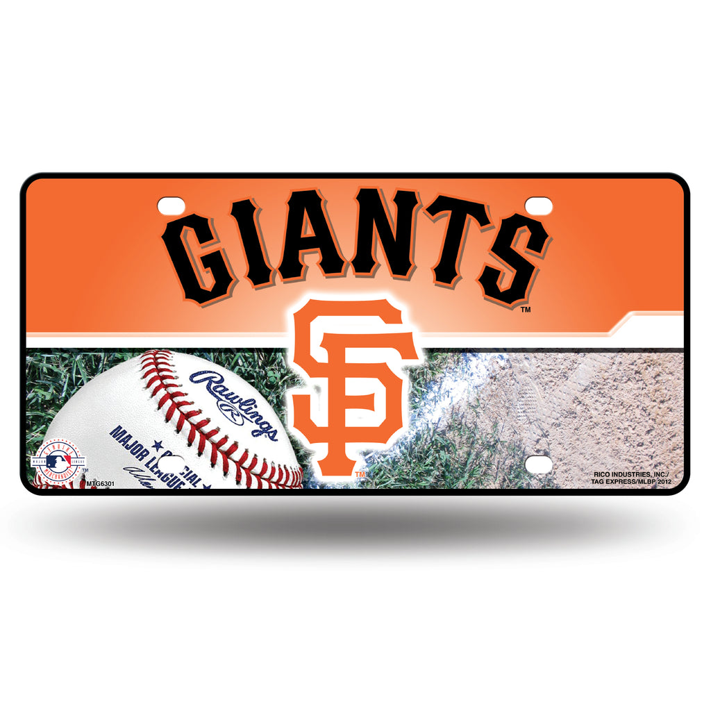 Rico MLB San Francisco Giants Auto Metal Tag Car License Plate MTG