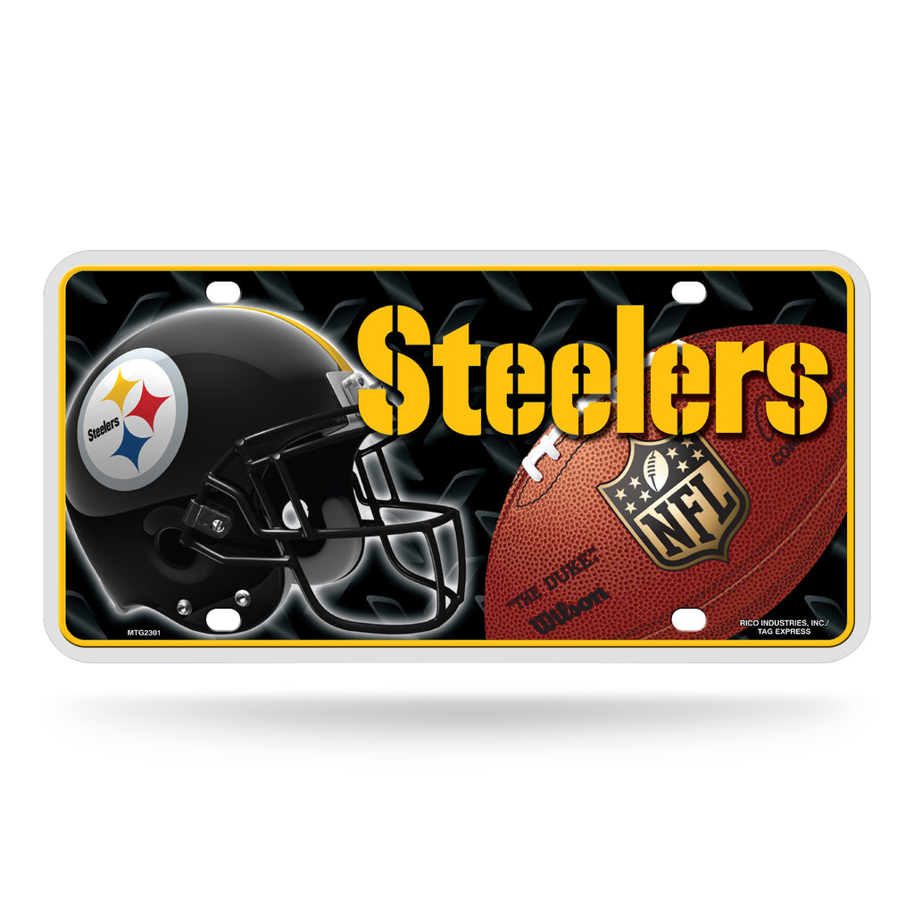 Rico NFL Pittsburgh Steelers Auto Metal Tag Car License Plate MTG