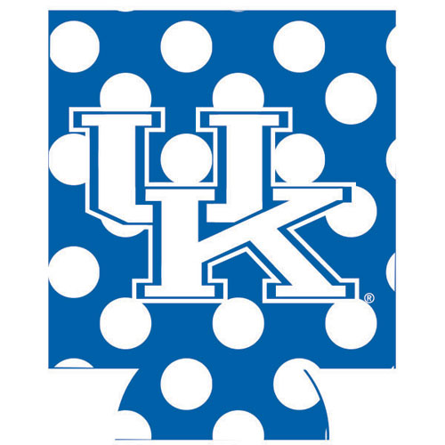 Jay Mac NCAA Kentucky Wildcats Can Koozie Dots Blue