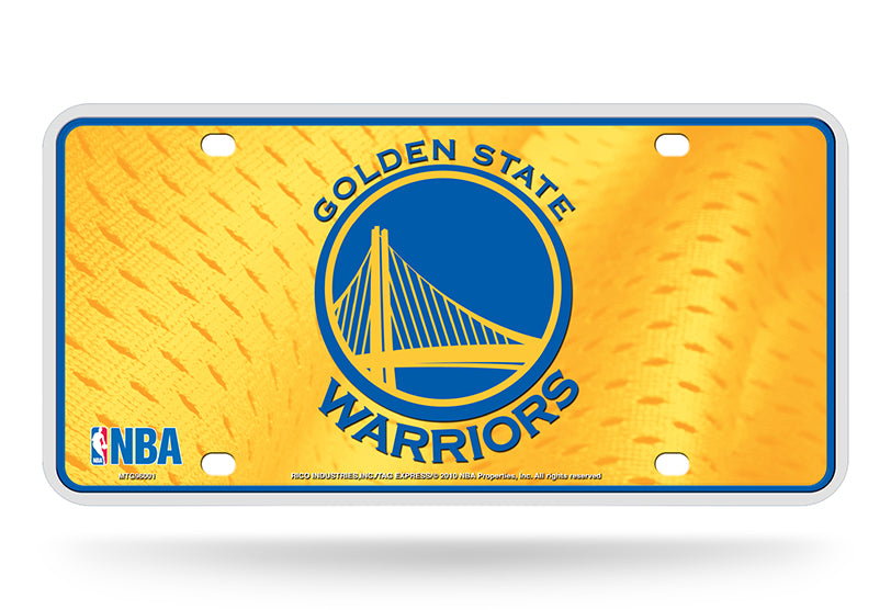 Rico NBA Golden State Warriors Auto Metal Tag Car License Plate MTG