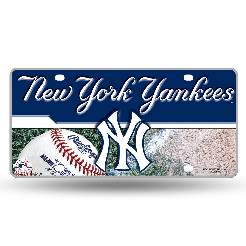 Rico MLB New York Yankees Auto Metal Tag Car License Plate MTG