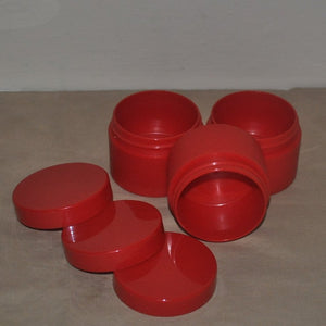 Red Plastic Jar & Red Lid (50 ml)
