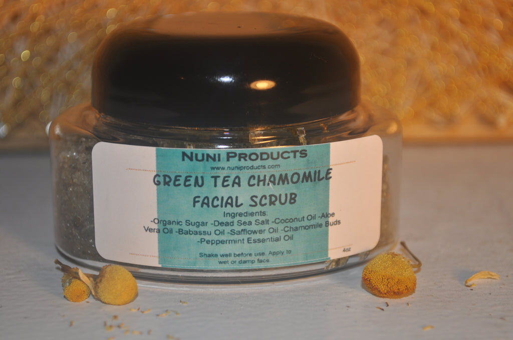 Green Tea Chamomile Facial Scrub