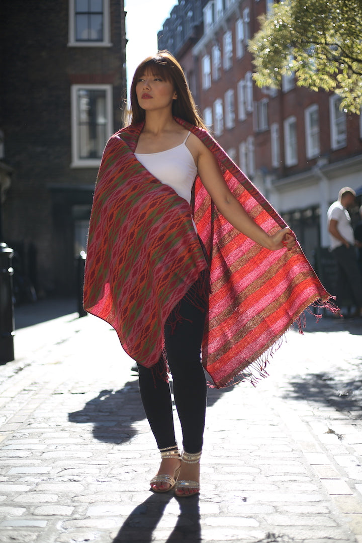 TRADITIONAL NEPALI DHAKA PRINT SHAWL