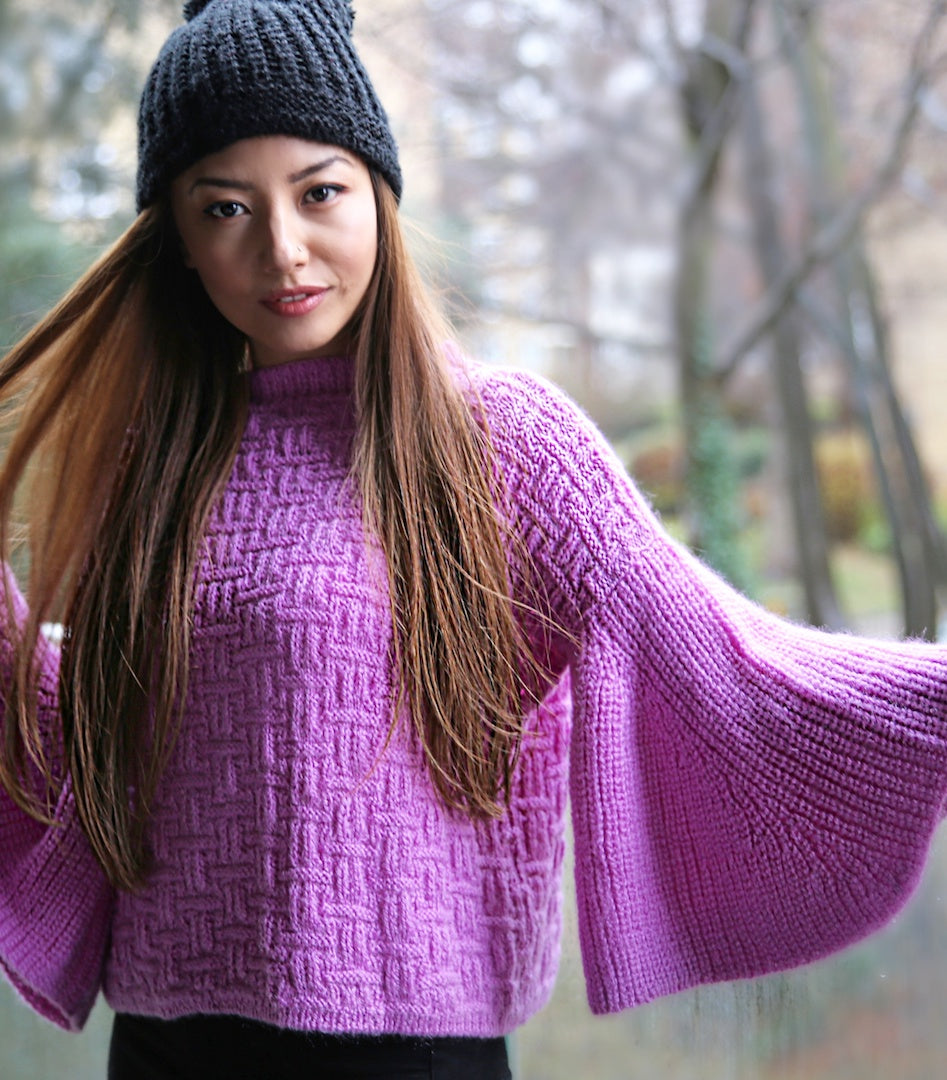 CHUNKY JUMPER WITH BELL SLEEVES