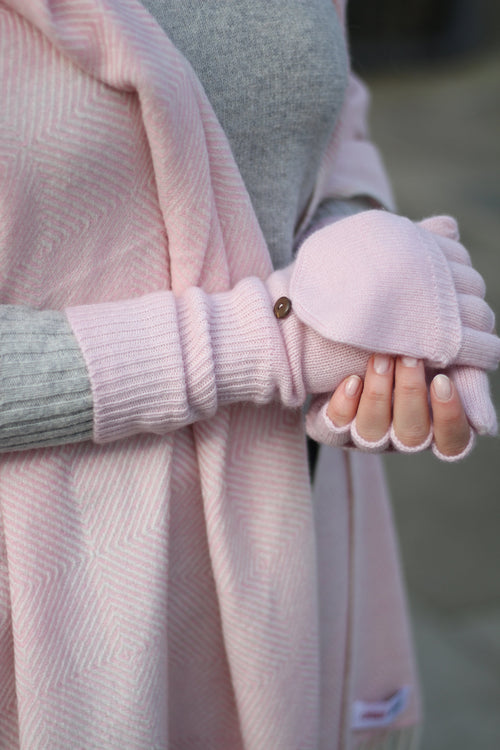 CASHMERE BUTTONED MITTS