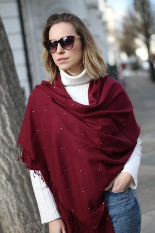 CASHMERE BUTTONED PONCHO