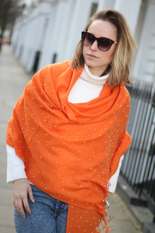 PEARL EMBELLISHED CASHMERE SHAWL