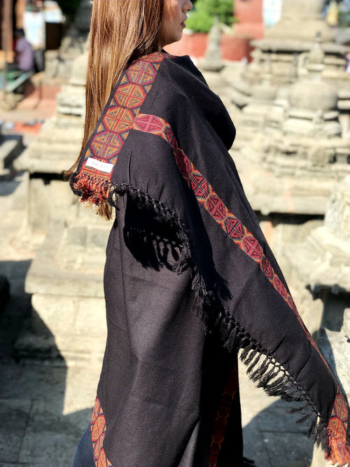 TRADITIONAL NEPALI PATTERN SHAWL