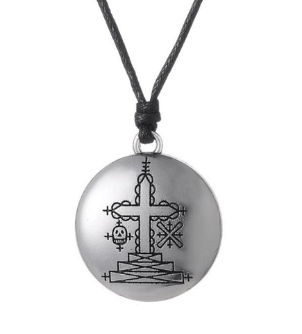 Papa Ghede Voodoo Veve Pendant