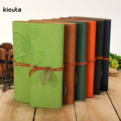 Notebook Leaf Leather Cover Journal