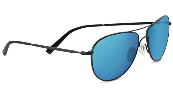 Serengeti Alghero 8314 <span>- Satin Black, Polarized 555nm Blue Photochromic Lenses</span>