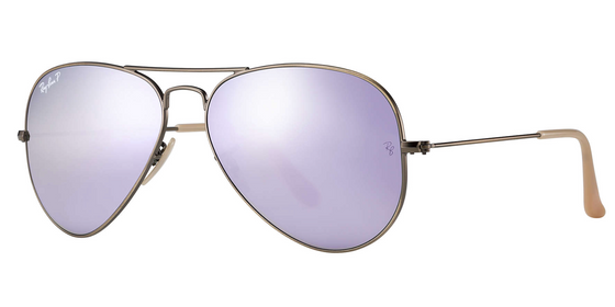 Ray-Ban Aviator Polarized Flash Sunglasses