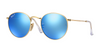 Ray-Ban Round Metal Flash Sunglasses