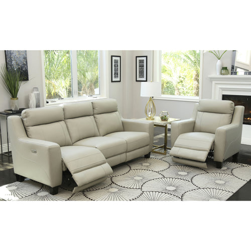 Abbyson Stanford Top-grain Leather 2-piece Power Reclining Set