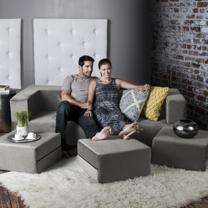 California King Convertible Sleeper Sofa and Ottomans