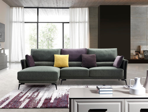 Divani Casa Koval Modern Eco-Leather Sectional Sofa