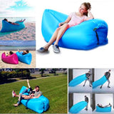 Inflatable Lazy bag, Lounger with Carry-on Bag for Camping, Hiking, Pool and Beach Parties