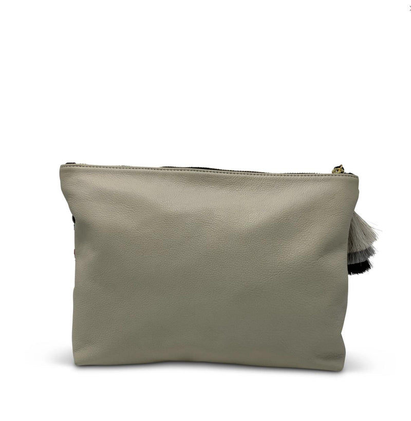 Blush Camo Suede Medium Pouch-Kempton & Co-Tucci Boutique