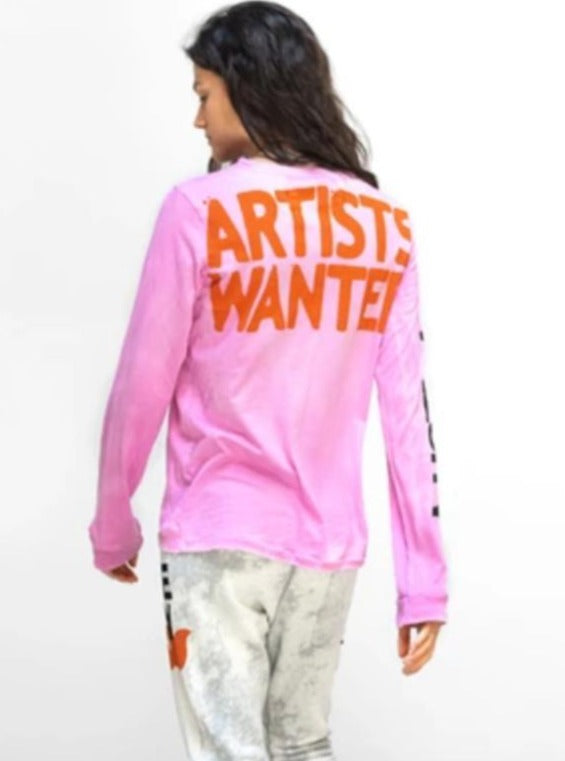 Artists Wanted SUPERVINTAGE Long Sleeve Tee - Pinkgumm-Free City-Tucci Boutique