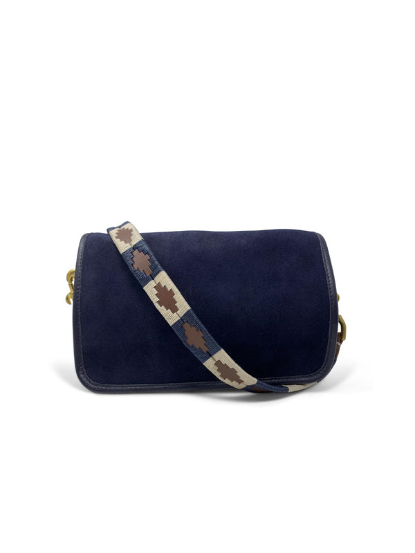 Mia Polo Bag - Navy Suede-Kempton & Co-Tucci Boutique