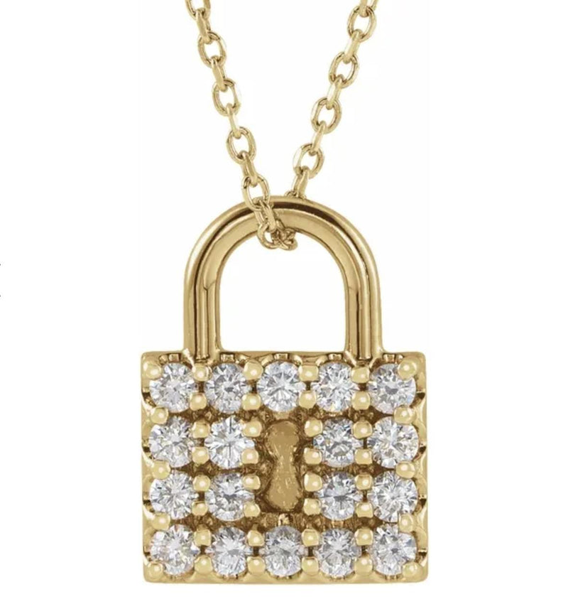 Diamond Padlock Necklace-Dolce Amore Ring by Paola Incisa di Camerana-Tucci Boutique
