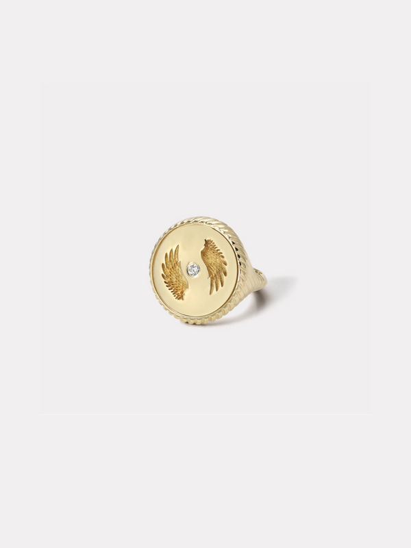 Alchemy Signet Ring - Bravery-Retrouvai-Tucci Boutique