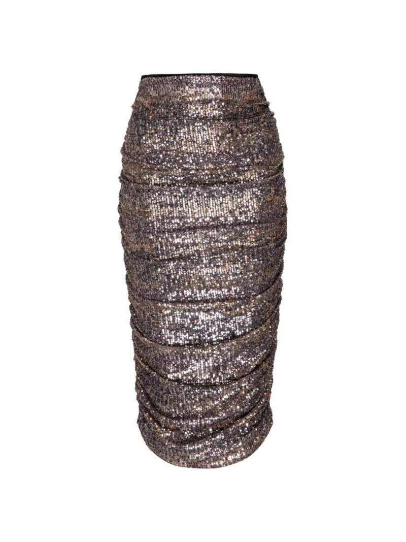 Rockstar Snakeskin Sequin Skirt-Le Superbe California-Tucci Boutique