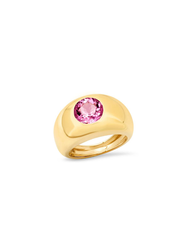 14K Yellow Gold Tourmaline Gypsy Ring-Sig Ward-Tucci Boutique