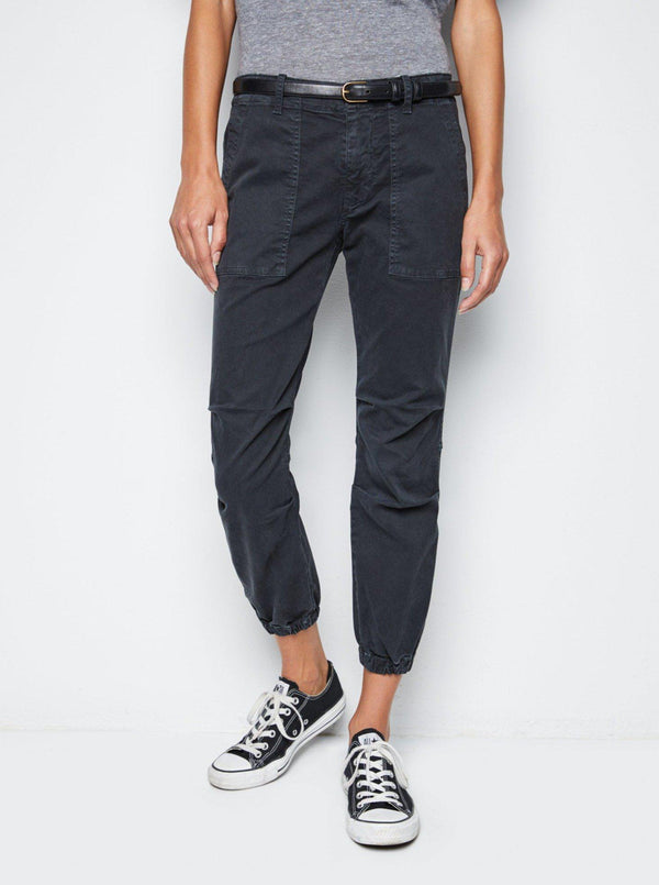 Cropped Military Pant - Carbon