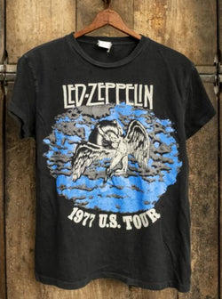 Led Zeppelin 1977 US Tour Crew Tee-MadeWorn-Tucci Boutique