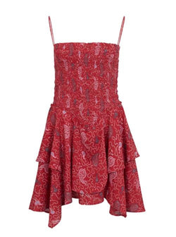 Anka Mini Dress - Red-Isabel Marant Étoile-Tucci Boutique