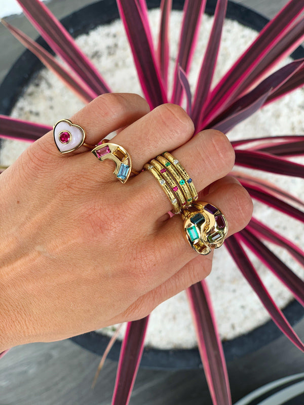 Multi-Color Gemstone Knot Ring-Brent Neale-Tucci Boutique