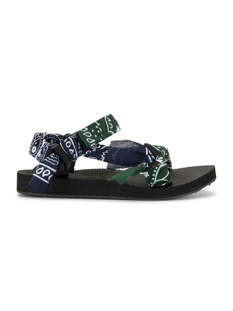 Trekky Sandals - Khaki & Navy Bandana-Arizona Love-Tucci Boutique