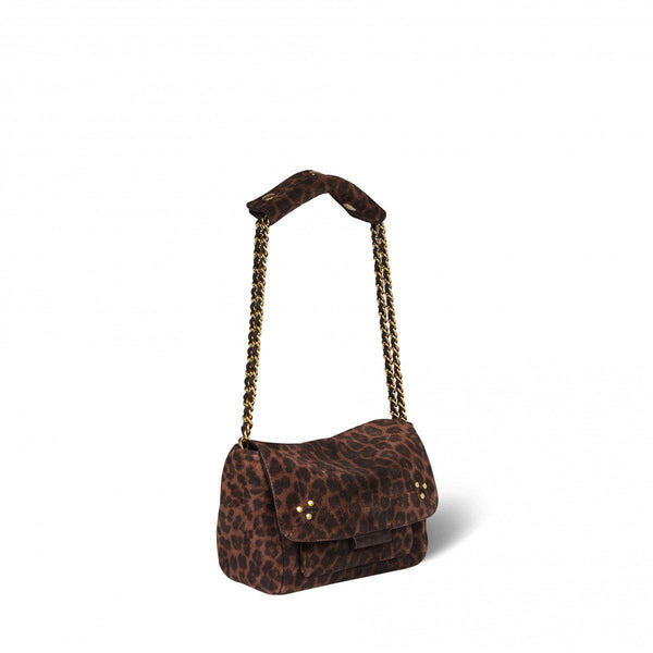 Lulu Small Leopard Handbag-Jerome Dreyfuss-Tucci Boutique