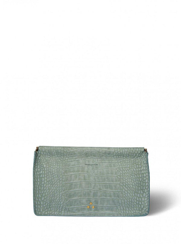 Clic Clac Clutch - Croco Lichen-Jerome Dreyfuss-Tucci Boutique