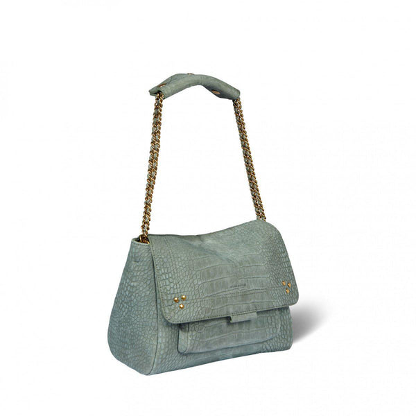 Lulu Medium Handbag - Croco Lichen-Jerome Dreyfuss-Tucci Boutique