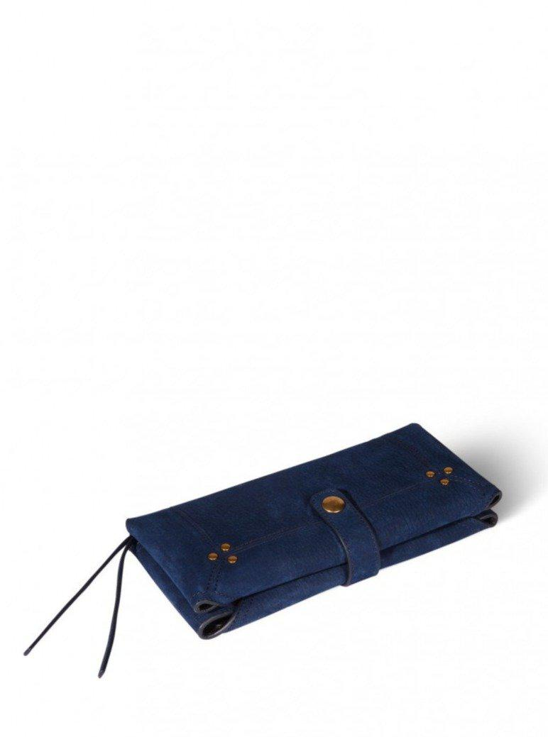 Porte Mobile Wallet - Taurillon Marine-Jerome Dreyfuss-Tucci Boutique