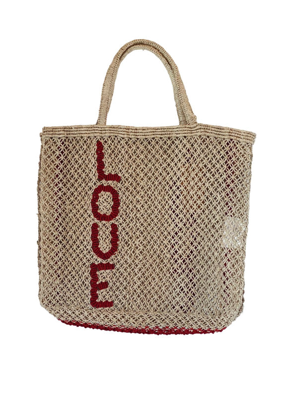 'Love' Jute Tote - Large-The Jacksons-Tucci Boutique