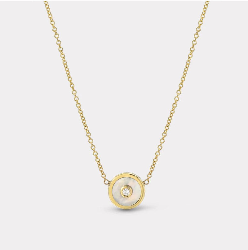 Mini Compass Necklace - Mother of Pearl-Retrouvai-Tucci Boutique