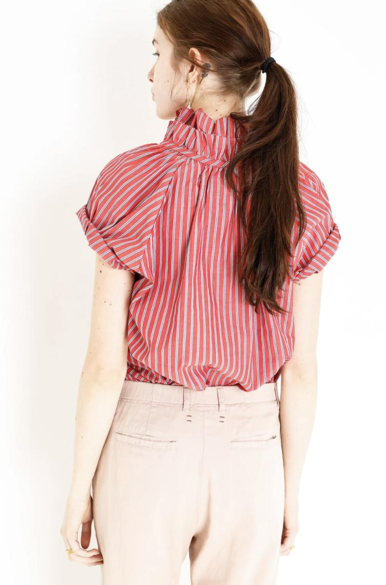 Stella Striped Shirt - Red-A Shirt Thing-Tucci Boutique