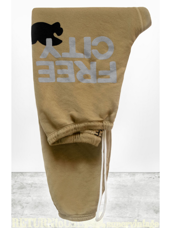 Superfluff Lux OG Sweatpants - Golden-Free City-Tucci Boutique