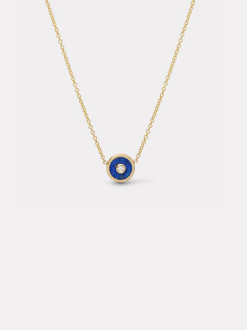 Mini Compass Necklace - Lapis-Retrouvai-Tucci Boutique