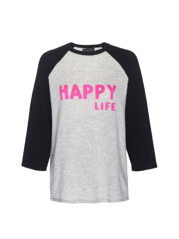 Happy Life Baseball Tee-Le Superbe-Tucci Boutique
