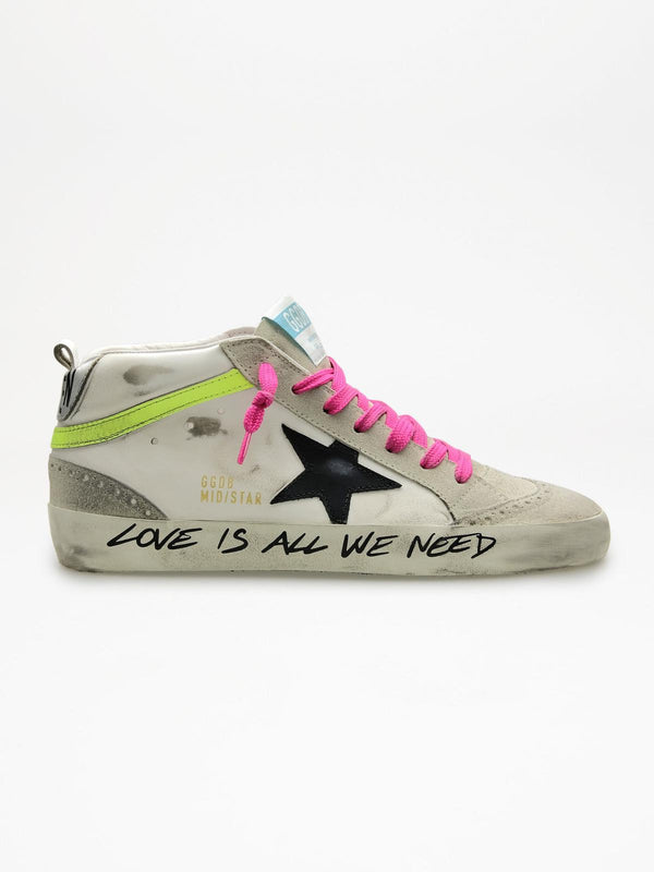 *PRE-ORDER* - Mid Star Sneakers - White, Ice, Black, Yellow & Pink-Golden Goose Deluxe Brand-Tucci Boutique