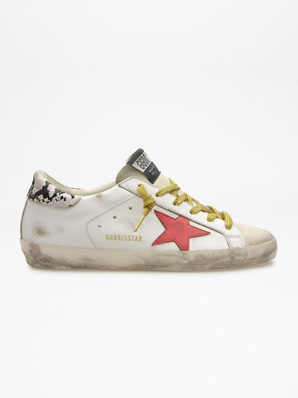 *Pre-Order* Superstar Sneakers - White, Red & Snake-Golden Goose Deluxe Brand-Tucci Boutique