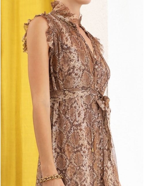 Botanica Python Swing Midi Dress-Zimmermann-Tucci Boutique