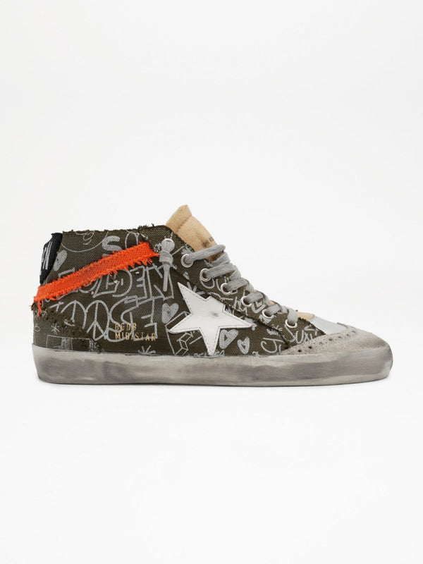 *Pre-Order* Mid Star Sneakers - Journey Print-Golden Goose Deluxe Brand-Tucci Boutique