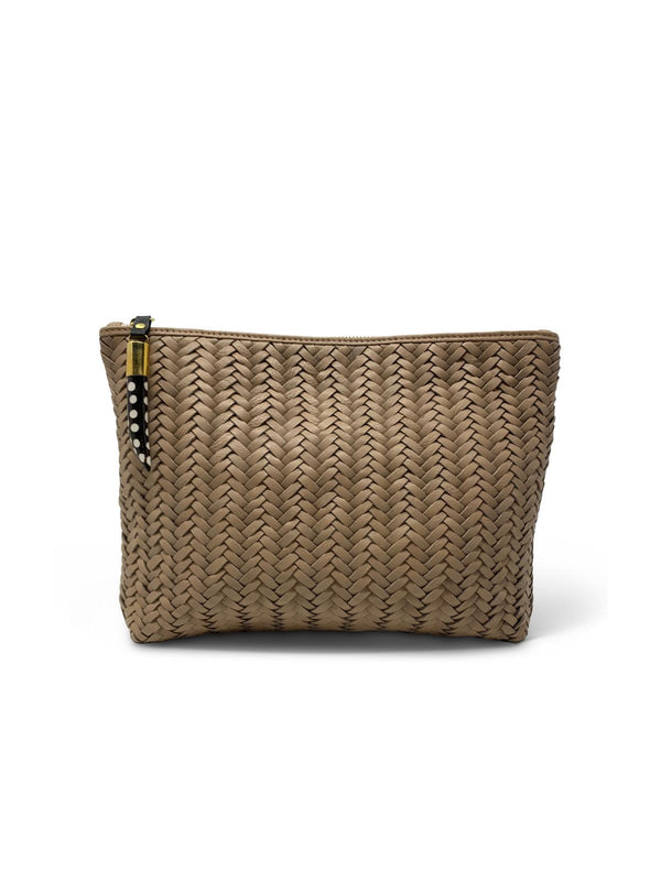 Medium Basket Weave Pouch - Blush-Kempton & Co-Tucci Boutique